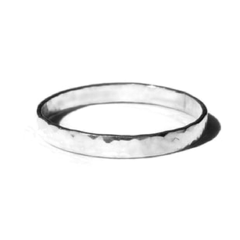 Gnoes | Ring gehamerd breed sterling zilver
