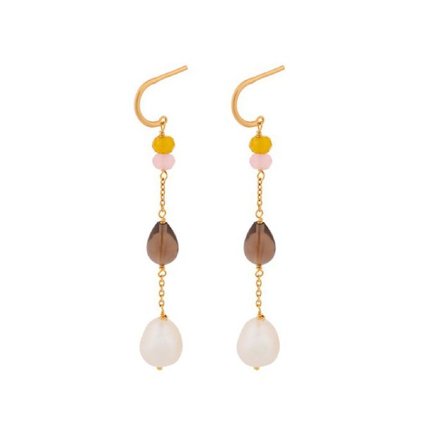 Lagoon Shade Earrings gold plated | Pernille Corydon
