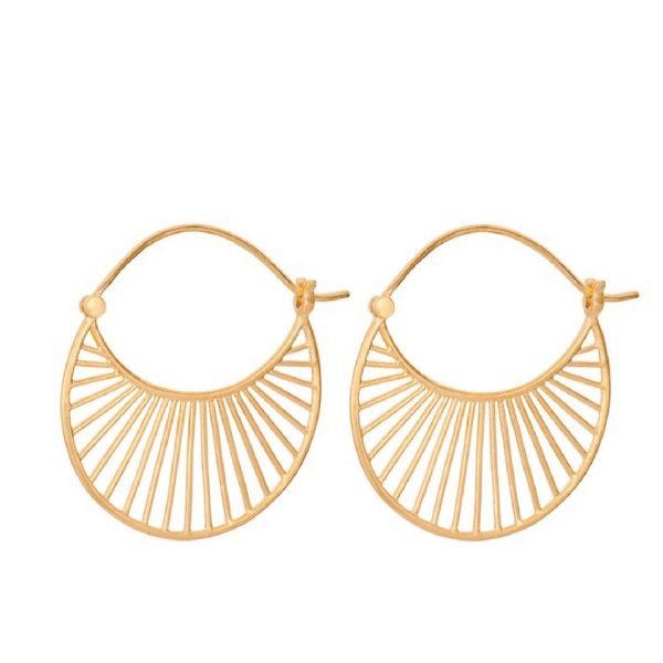 Daylight earrings Large gold plated | Pernille Corydon