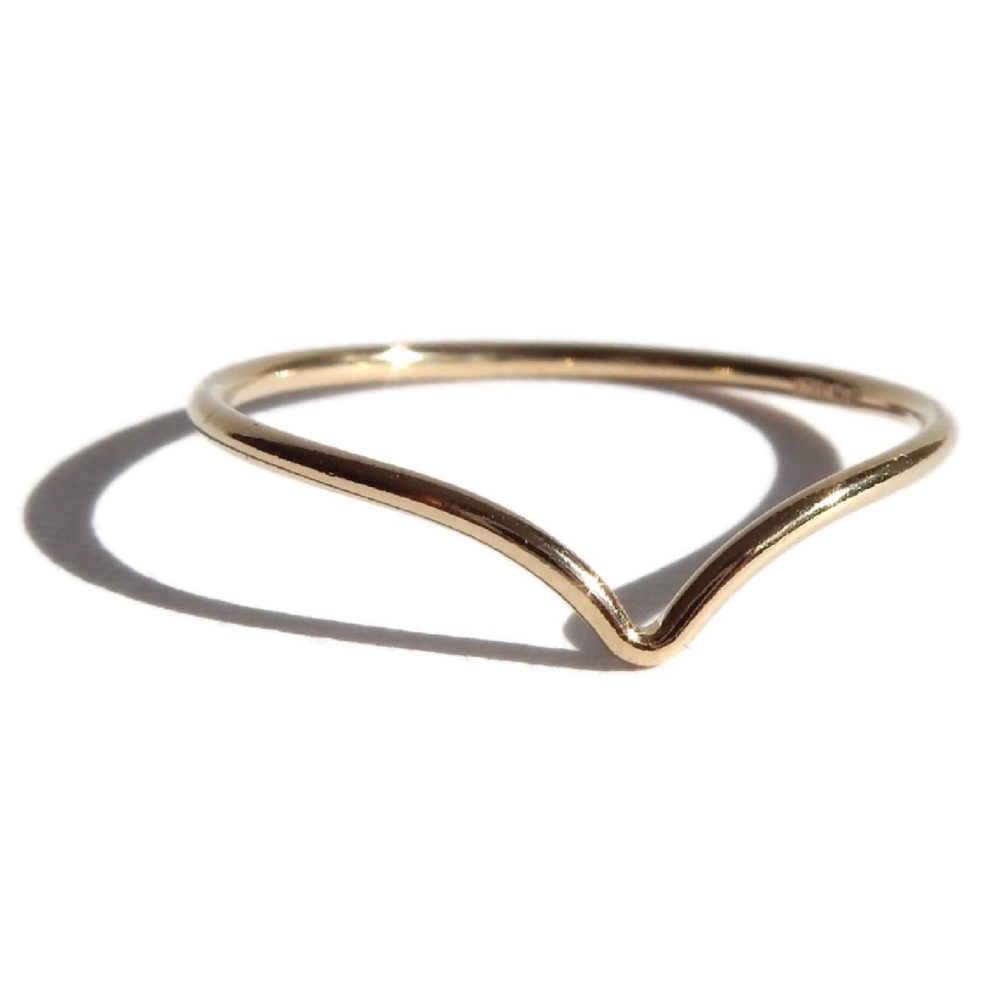 Gnoes | Ring met V gold filled