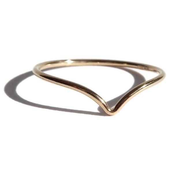 Gnoes | Ring met V gold filled