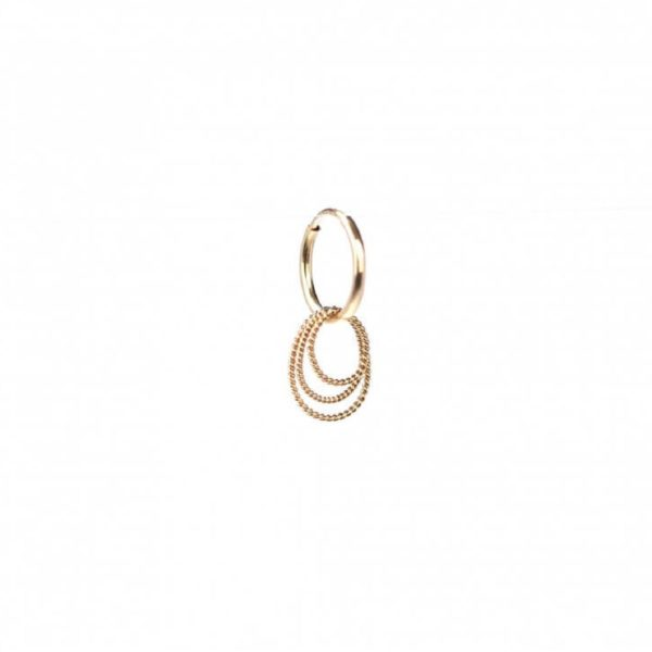 Twisted Oval Hoops Earring | ÆVA Amsterdam