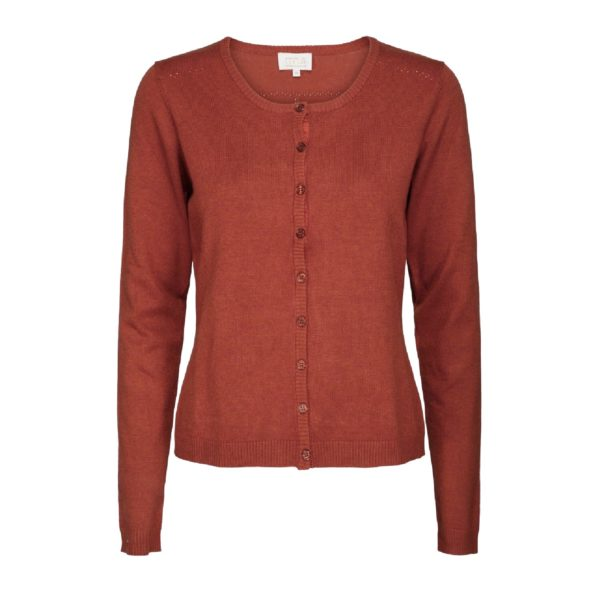 New Laura cardigan cranberry melange