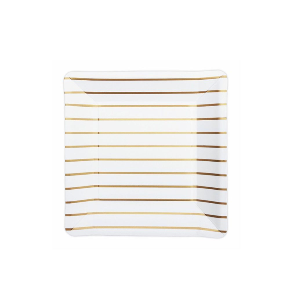 Delight Department Plates gold striped