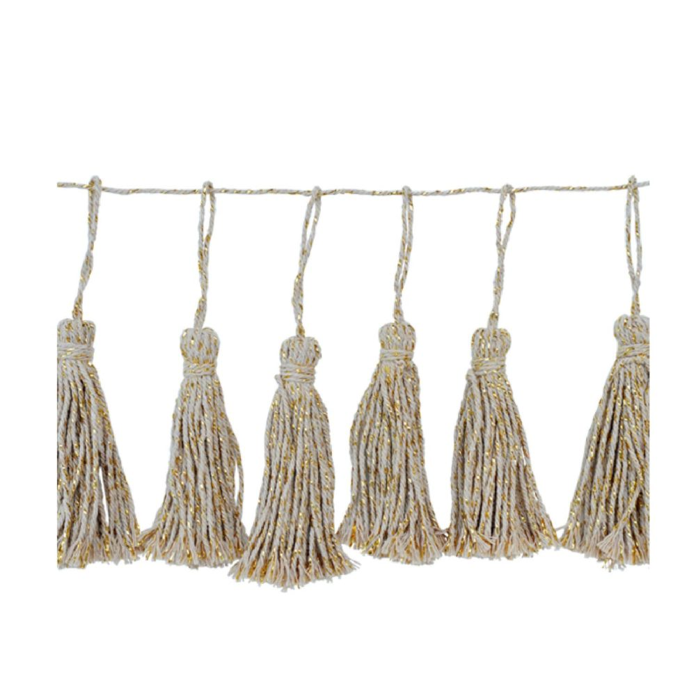 Delight Department 14 cotton tassels garland in cotton bag