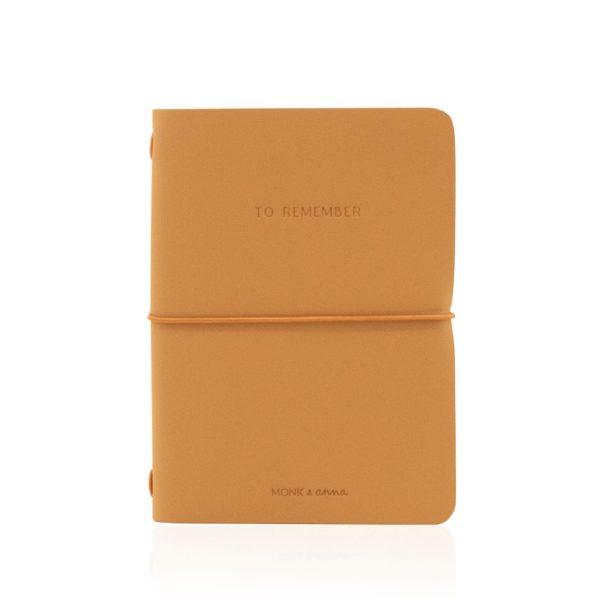 Cashew Notebook M Vegan Leather | Monk&Anna