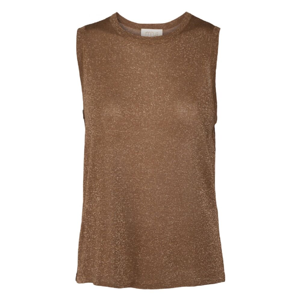 Minus Raka knit top Brown Sugar Lurex