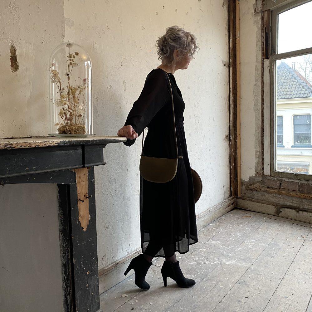 Jackie midi Dress Black | Soft Rebels