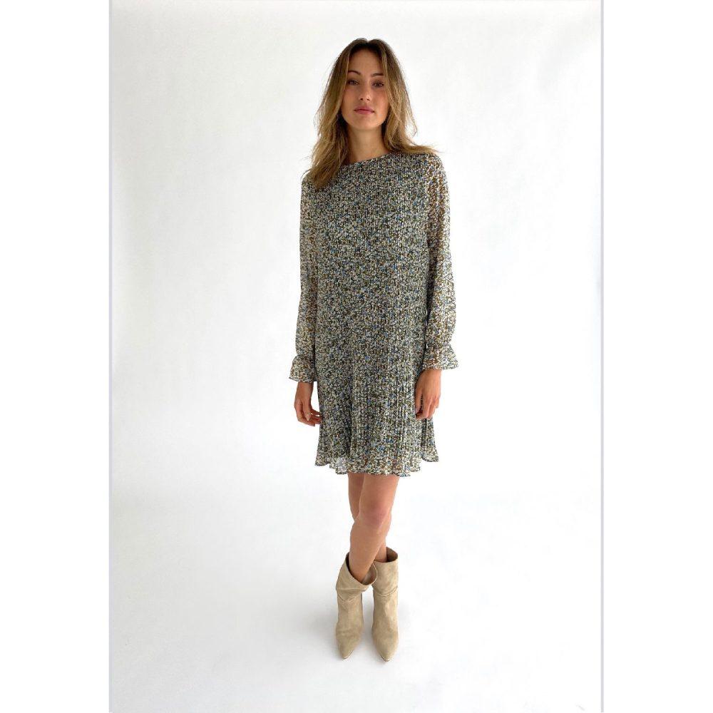 Rikka dress Greenery print | Minus