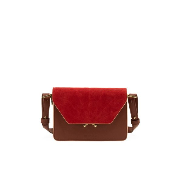 Faded Burgundy/Poppy Red Shoulder bag   Sticky Lemon Sis Club