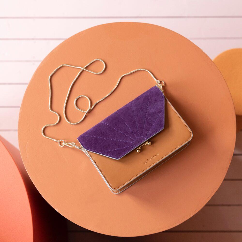 Shoulder bag ton sur ton cider brown/purple Sticky Lemon Sis Club