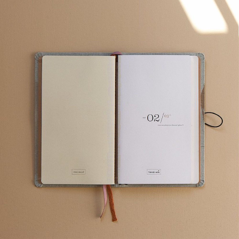 Diary 2021 linen with button | Tinne+Mia