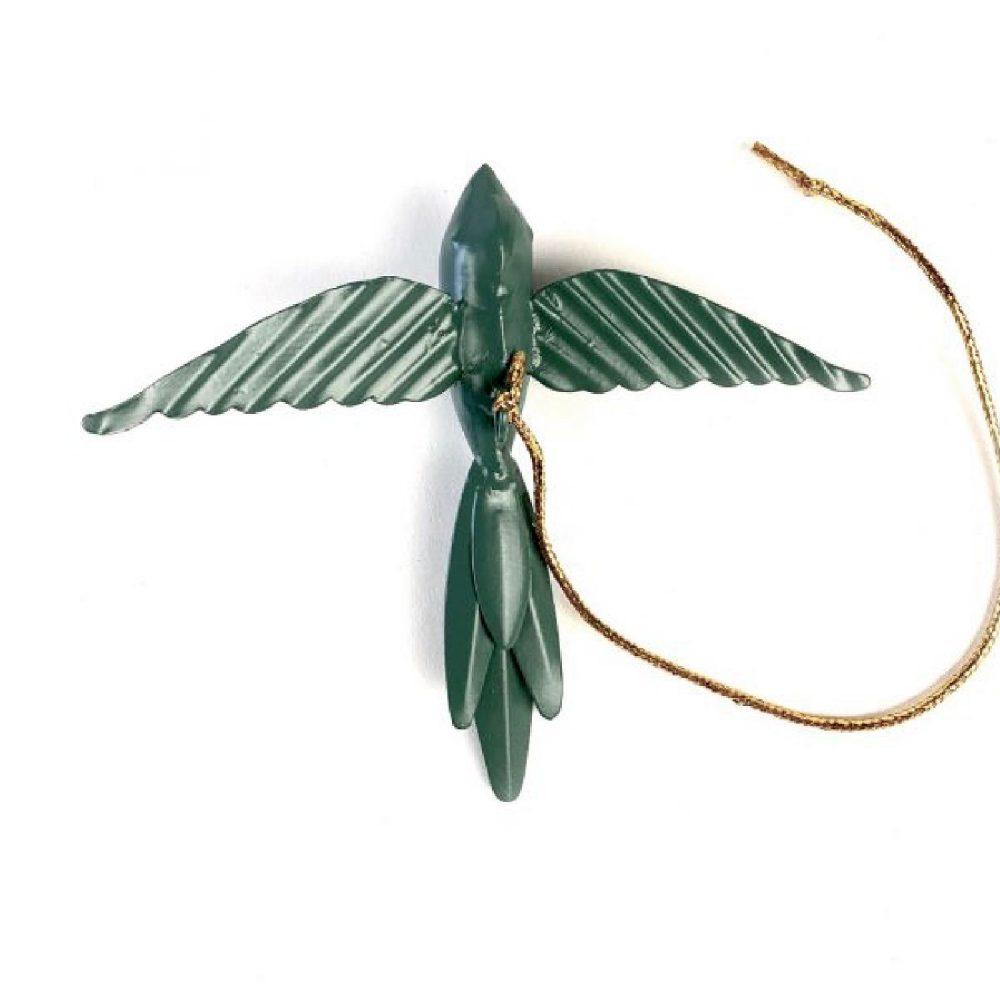 Metalen vogel groen | Imbarro