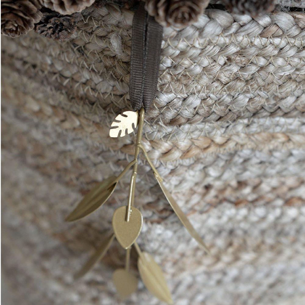 Bladornament small | bronskleurig