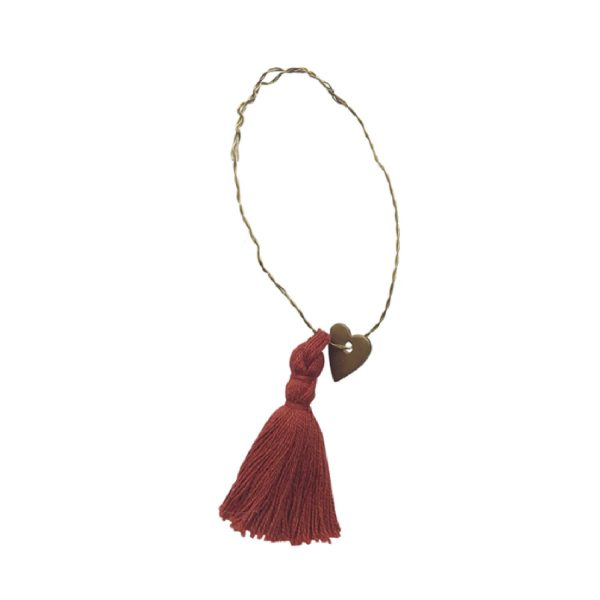 Roestrode tassel met hartje | Delight Department