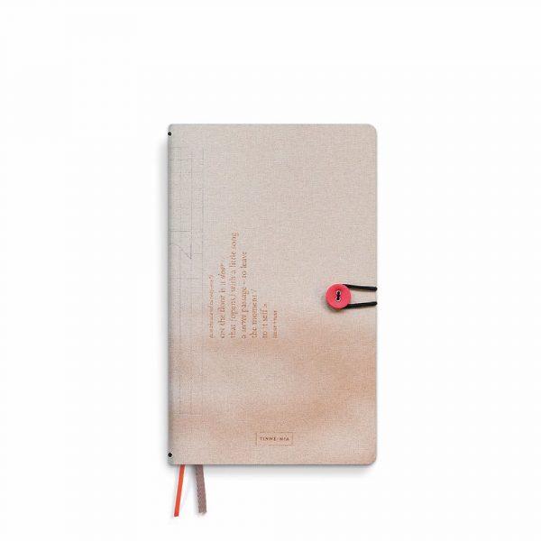 Diary 2021 linen with button | Tinne+Mia