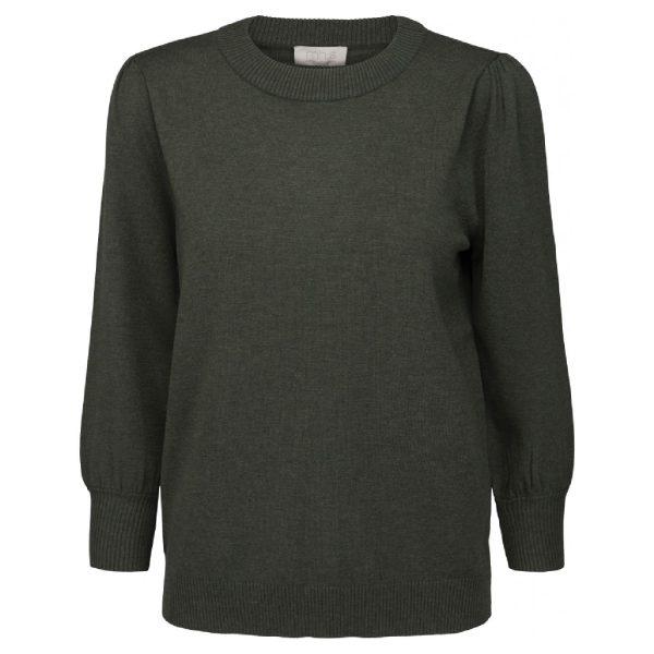 Mersin knit tee Army Green Melange | Minus