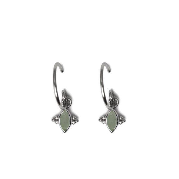 Earring Butterfly Amazonite zilver | Muja Juma