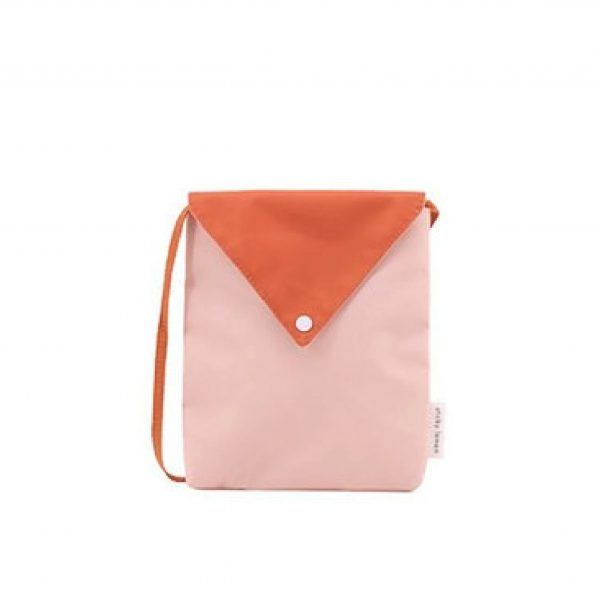 Peony pink + tangerine Envelope bag | Sticky Lemon