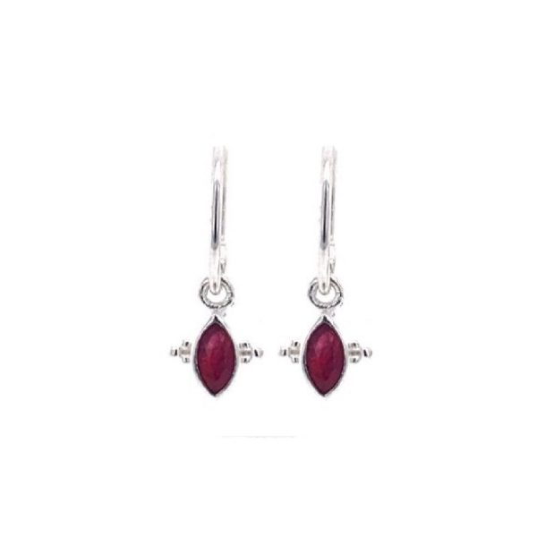 Earring rood zilver | Muja Juma