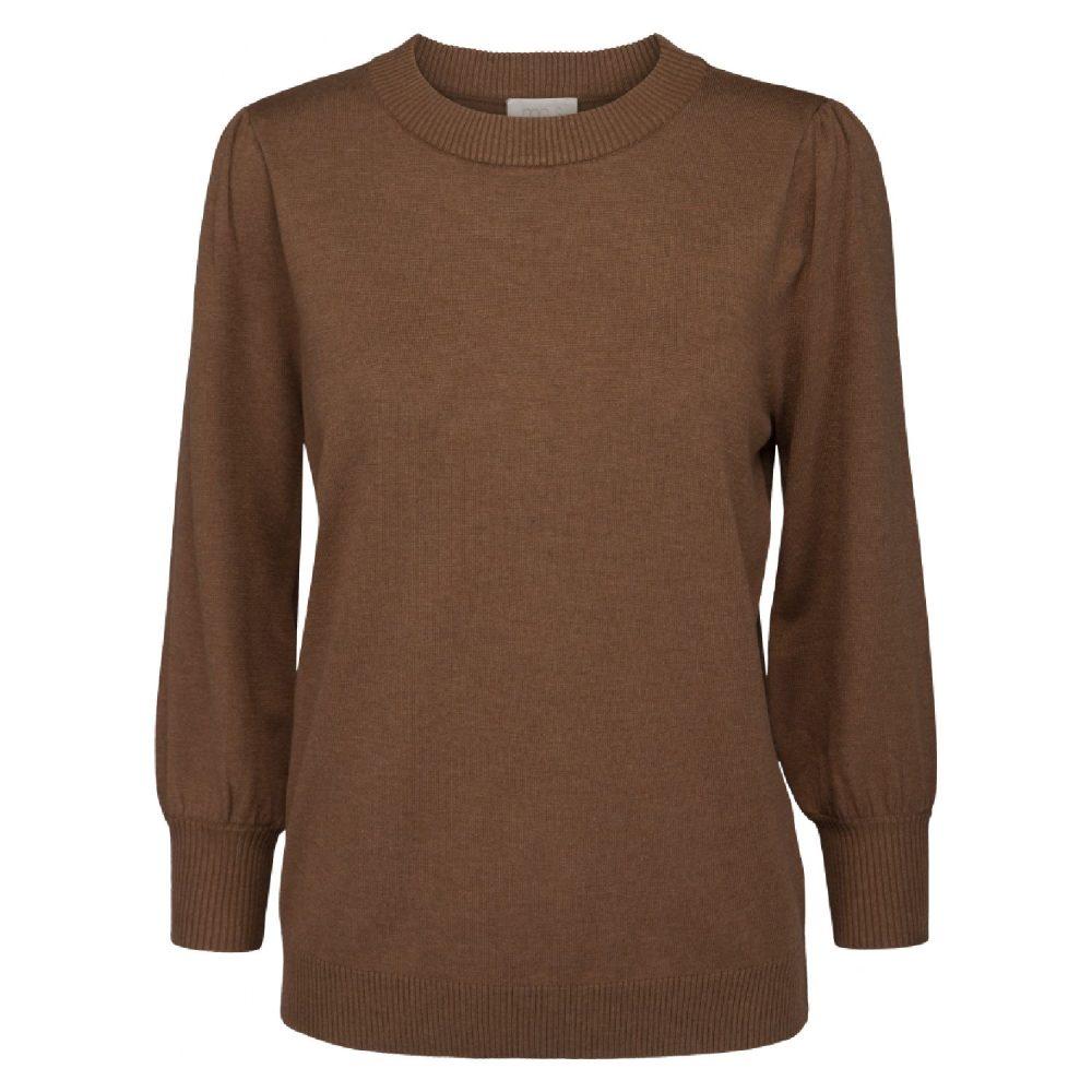 Mersin knit tee Walnut Brown Melange | Minus