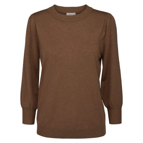 Mersin knit tee Walnut Brown Melange | Minus