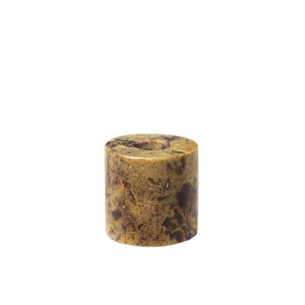 Bruine Mini kandelaar Ylwa | Broste