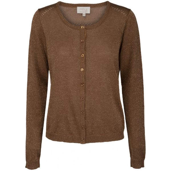 Brown sugar Lurex New Laura cardigan | Minus