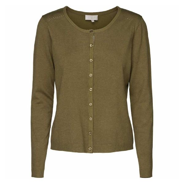 Olive green melange New Laura cardigan | Minus
