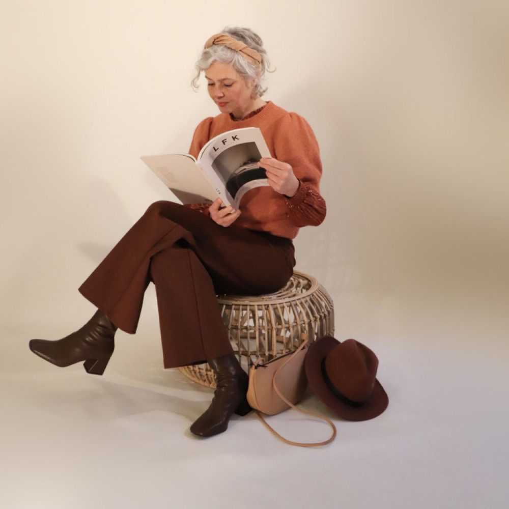 Angie knit Red Rust Melange | Minus
