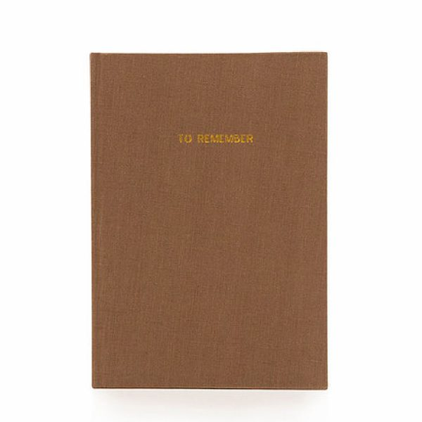 Cacao Notebook L Washed Linen | Monk&Anna