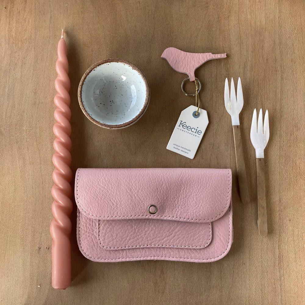 Sleutelhanger Mini Tweet Soft Pink | Keecie