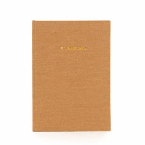 Olive Notebook L Washed Linen | Monk&Anna