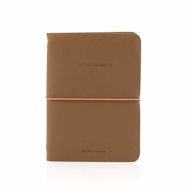 Cacao Notebook M Vegan Leather | Monk&Anna