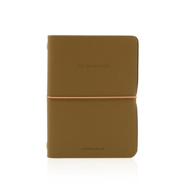 Olive Notebook M Vegan Leather | Monk&Anna