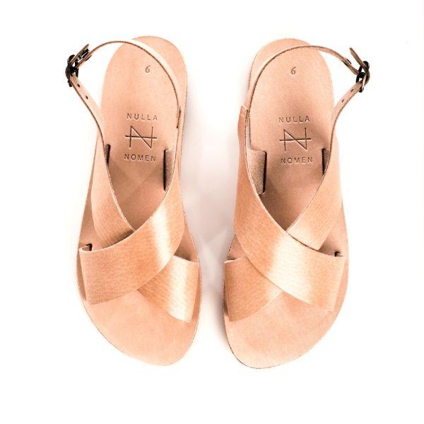 Kruisband-sandaal Tan | Nulla Nomen