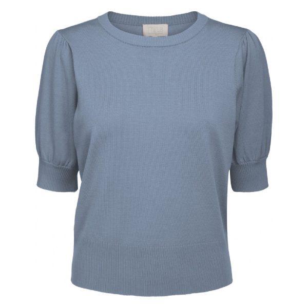 Liva Knit Tee Dusty blue melange | Minus
