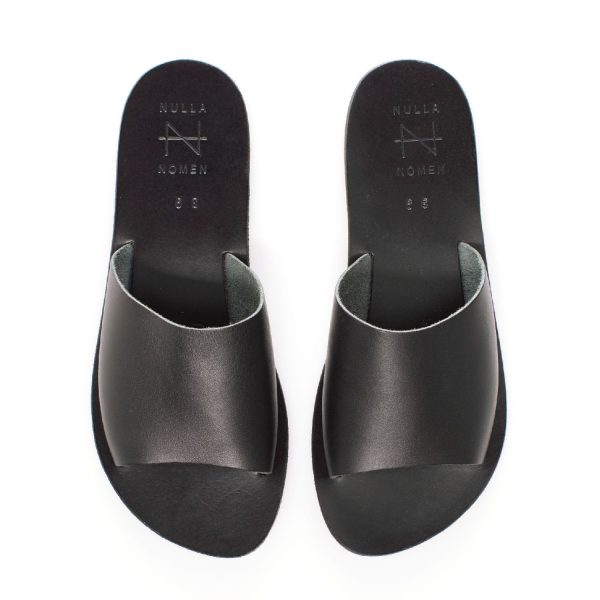 Brede band-sandaal Zwart | Nulla Nomen
