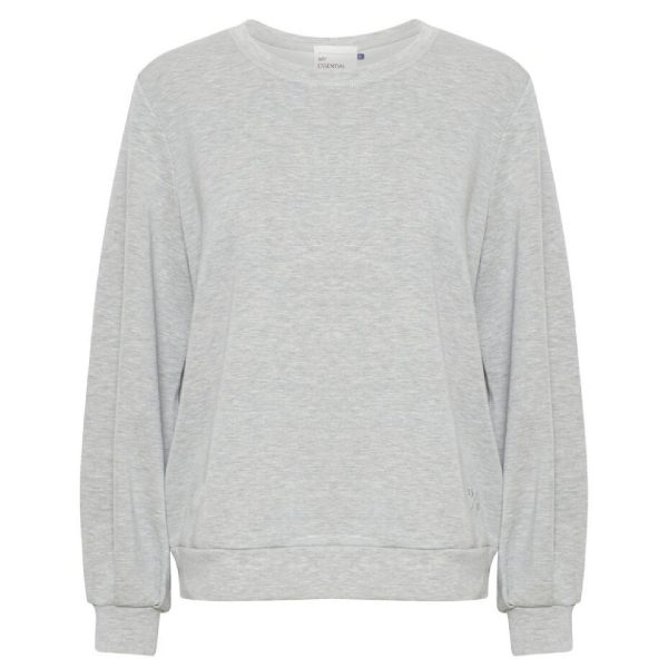 Sweat blouse Grey melange | My Essential Wardrobe
