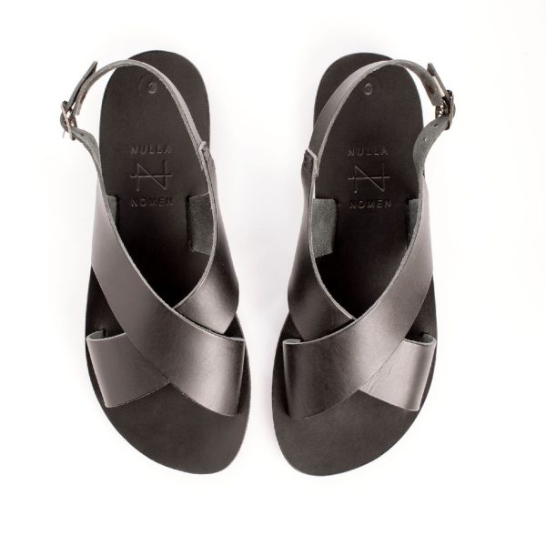 Kruisband-sandaal Black | Nulla Nomen