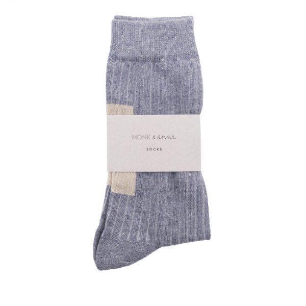 Greyisch Blue Socks | Monk&Anna