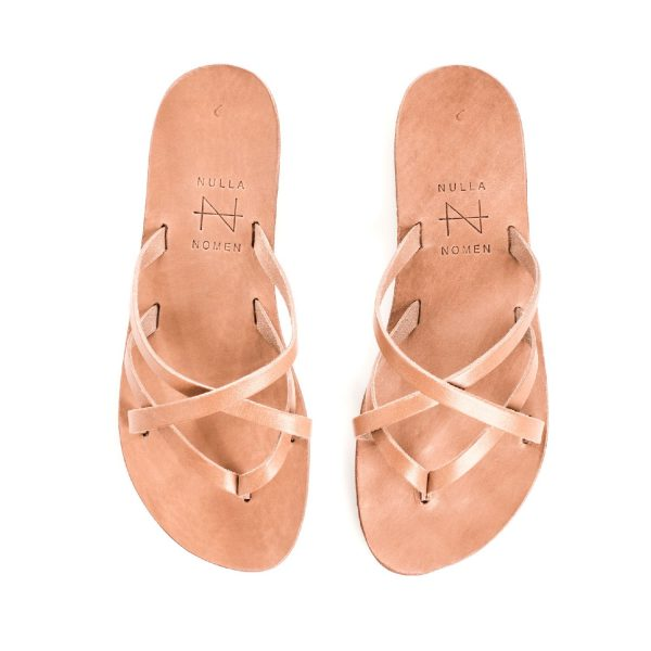 Smalle band-sandaal Tan | Nulla Nomen