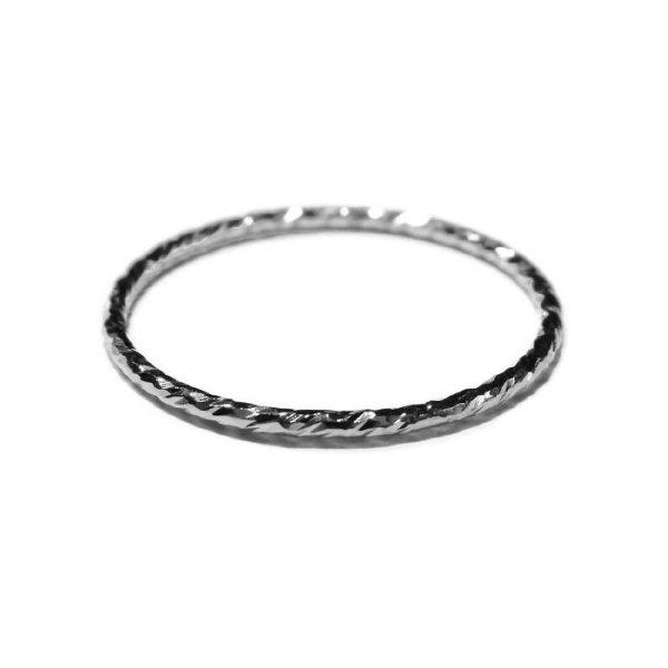 Ring gedraaid sterling zilver | Gnoes