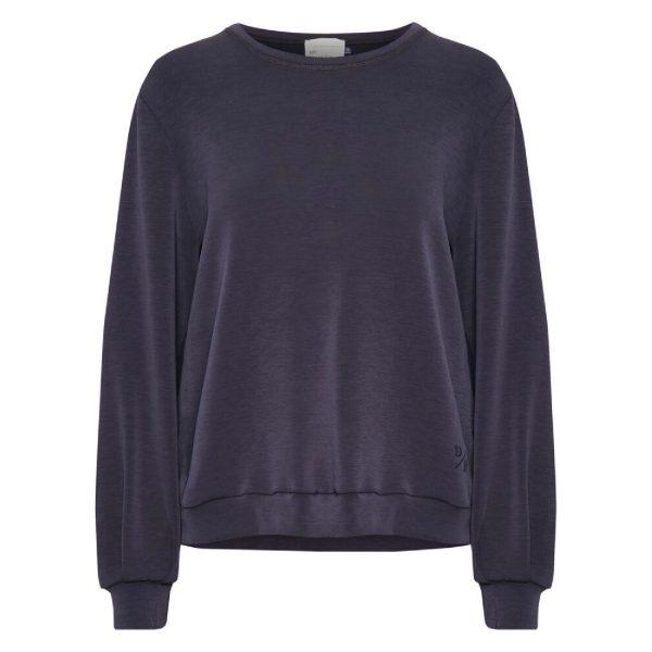 Sweat blouse Navy blue | My Essential Wardrobe