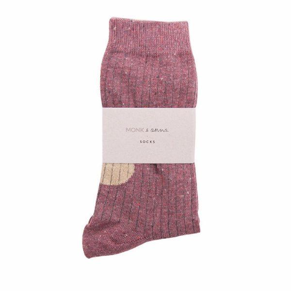 Burgundy Socks   Monk&Anna