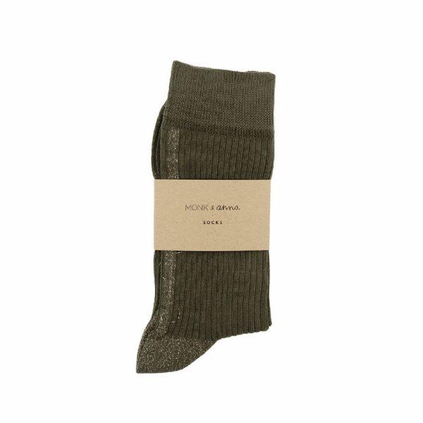 Olive Socks | Monk&Anna