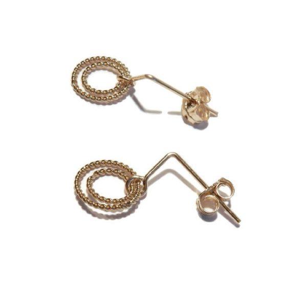 Earrings two twisted rings | Gnoes