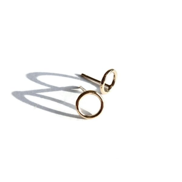 Earstuds gold filled mini circle | Gnoes