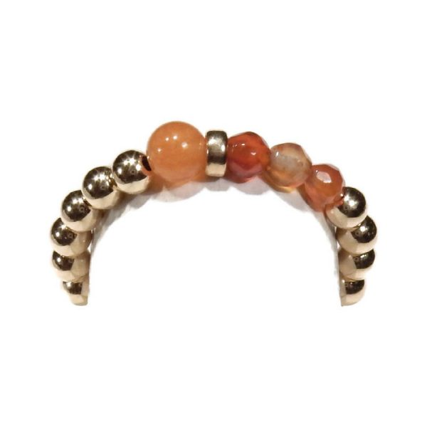 Flexring carnelian gold filled 3mm | Gnoes