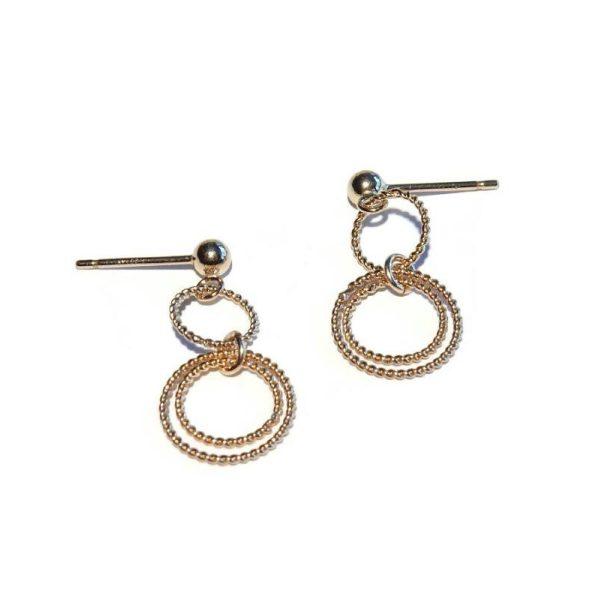 Earrings connected rings | Gnoes